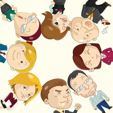 office party: Tarjeta de trabajador de Oficina de dibujos animados