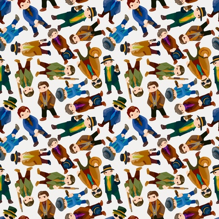 gangsta: seamless mafia pattern  Illustration