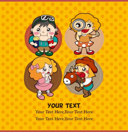 cartoon kid card Stock Vector - 10800329