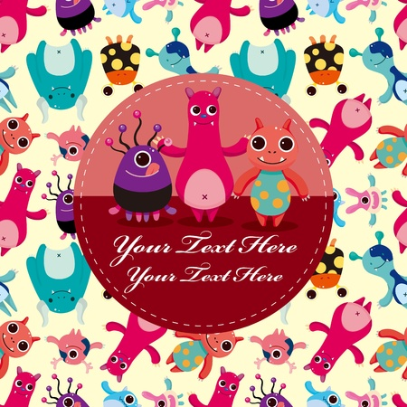 monster card Stock Vector - 10800330