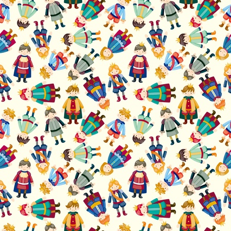 cartoon Prince seamless pattern  Vector