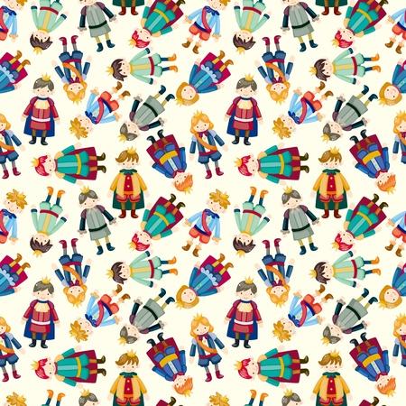 prince charming: cartoon Prince seamless pattern  Illustration