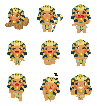 cartoon pharaoh icon  Illustration