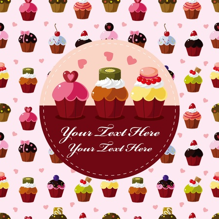 cartoon cake card 版權商用圖片 - 10925169