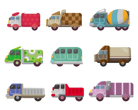 car loader: cartoon truck icon