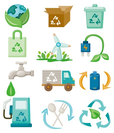 icono ecologico: icono de eco de dibujos animados