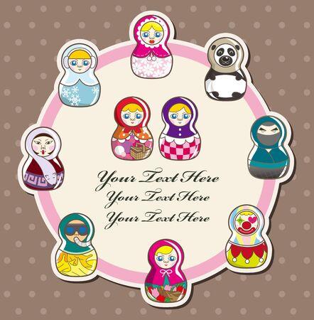 doll card  Vector