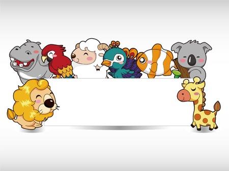 coala: dibujos animados de tarjetas de animales Vectores