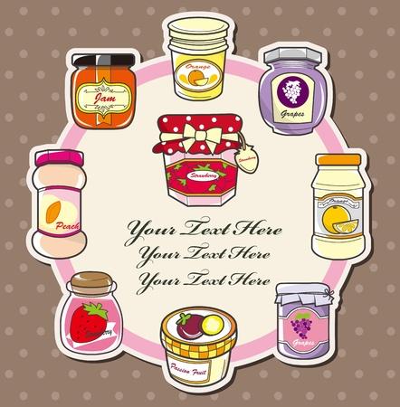 jam jar: cartoon jam card