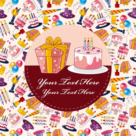 Cartoon birthday card  Vector