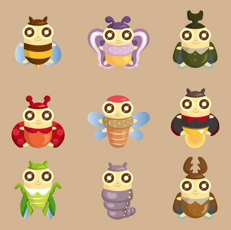 cartoon insect bug icon 向量圖像