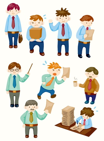 cartoon office workers icons  Vector
