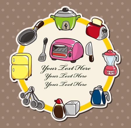 electrical appliance: dibujos animados tarjeta de cocina