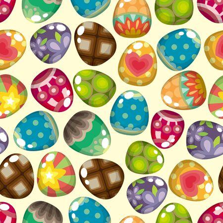 seamless Easter egg pattern  Vector