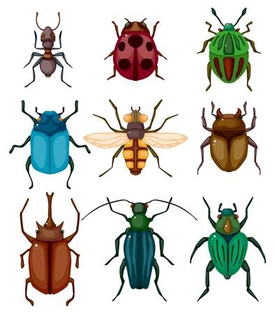 escarabajo: insectos de dibujos animados icono de error