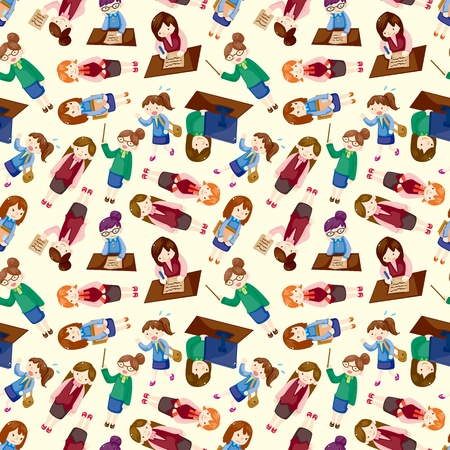 cartoon office woman worker seamless pattern Stock Vector - 11158390