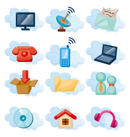 Icons for Cloud network Stock Vector - 11224935