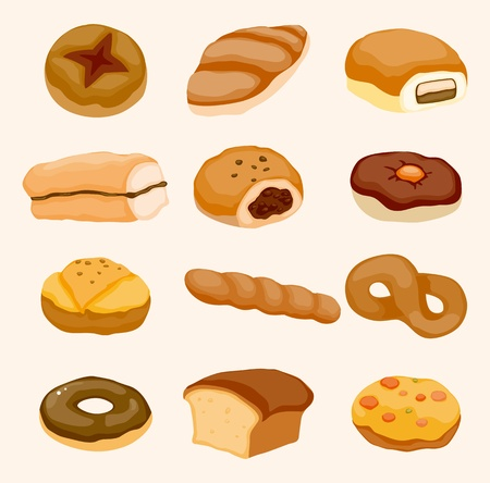biscuits: cartoon bread icon