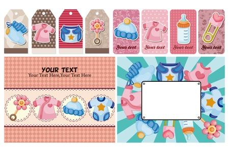 pezones: bebé tarjeta Vectores
