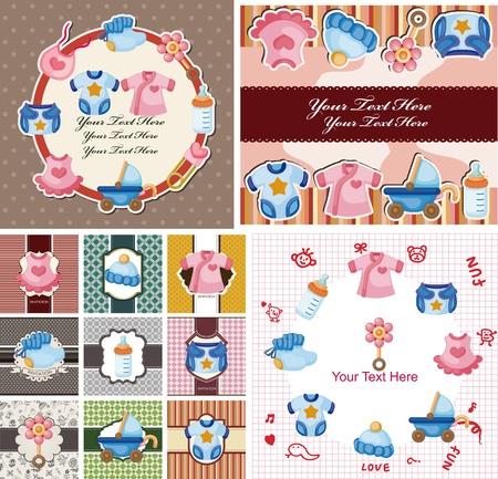 niples: beb� tarjeta Vectores