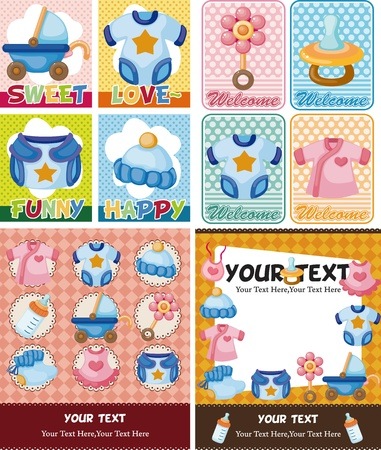 baby clothes: baby card