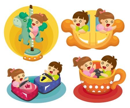ferris: cartoon playground icon  Illustration
