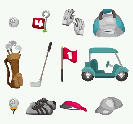 cartoon golf: cartoon golf icon  Illustration
