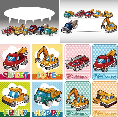 truck card Stock Vector - 11224960