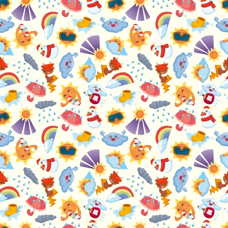 seamless weather pattern  Vector