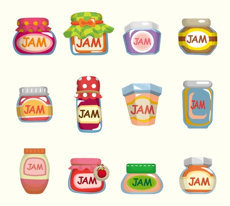 cartoon jam  Vector