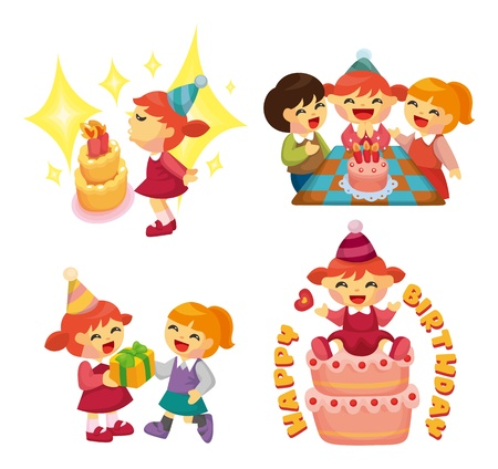 cartoon birthday  party Vector