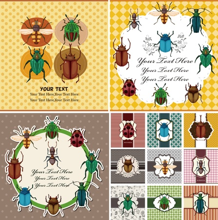 bee party: bug card  Illustration