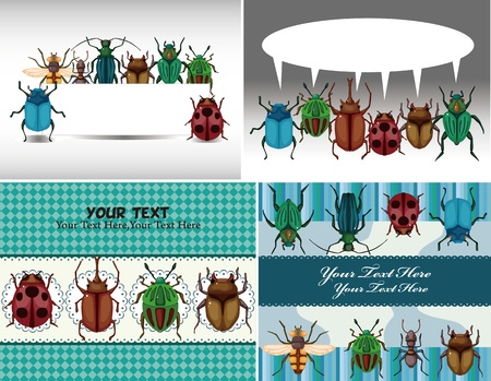 bug card  Vector