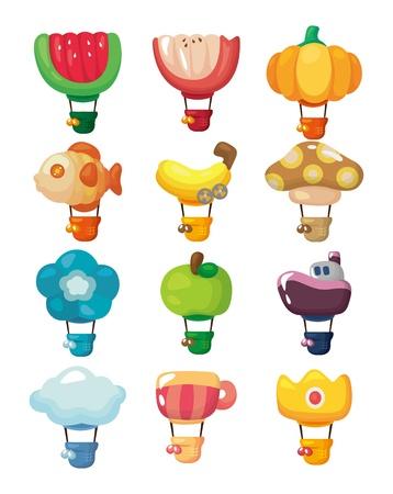 cartoon hot air balloon icon Stock Vector - 11224989