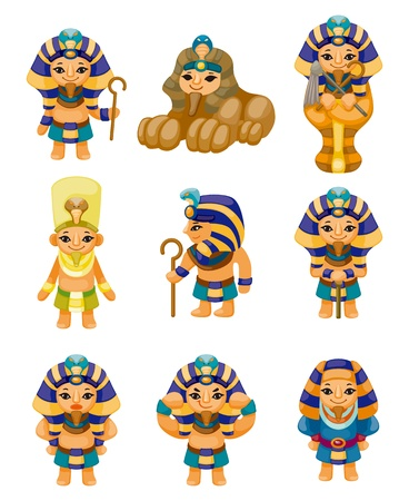 cartoon pharaoh icon Vector
