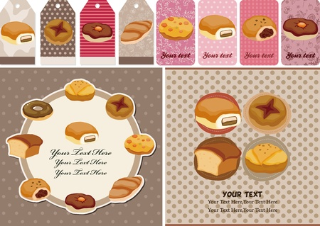 biscuits: cartoon bread card