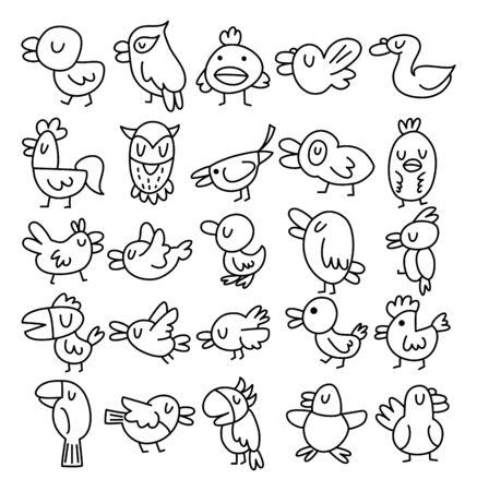 perched: hand draw bird element
