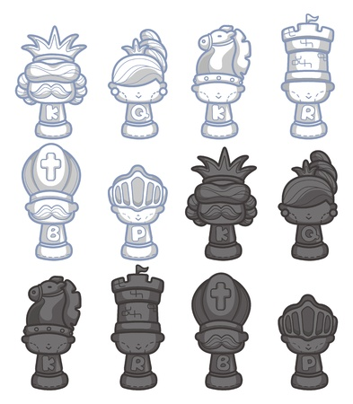 king master: cartoon chess isolated