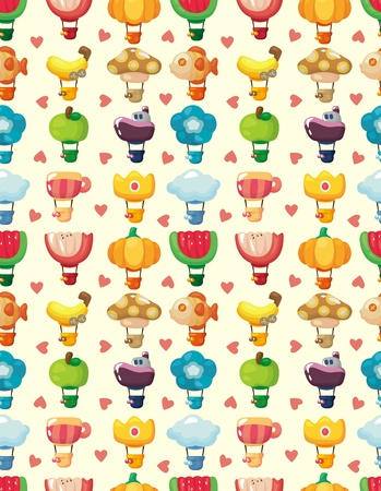 seamless hot air balloon pattern  Vector