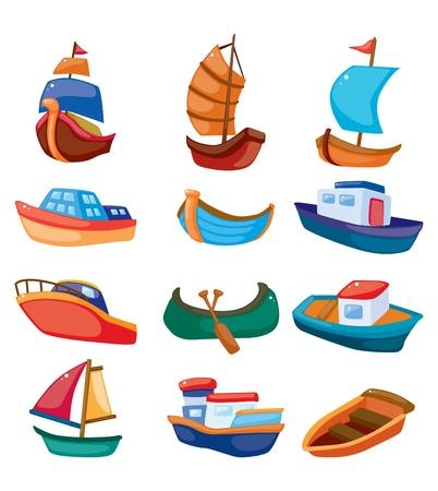cartoon boat icon Vector