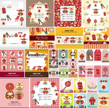 nouvel an: Chinoise Nouvel An carte