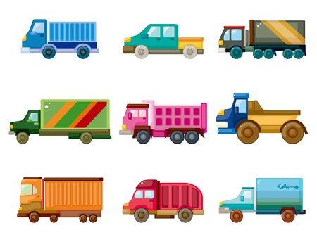 motor truck: cartoon truck icon