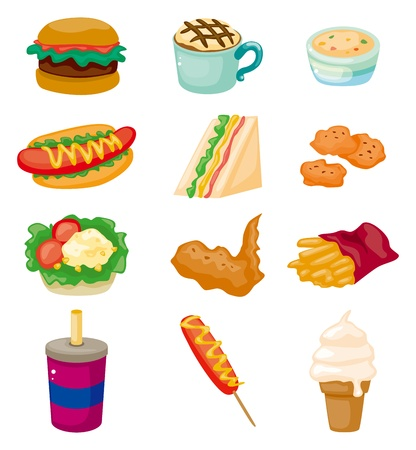 sandwiches: cartoon fast food icon  Illustration
