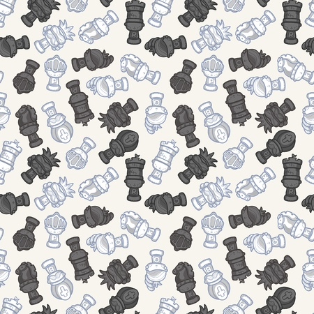 cartoon chess seamless pattern  Vector