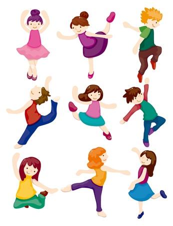 ballet slipper: de dibujos animados conjunto bailarina