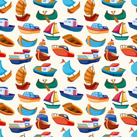 cartoon frame: barca seamless Vettoriali