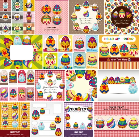 easter decorations: easter egg card