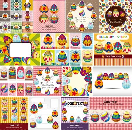 huevo caricatura: huevos de pascua tarjetas