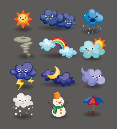 cartoon sun: cartoon weather icon