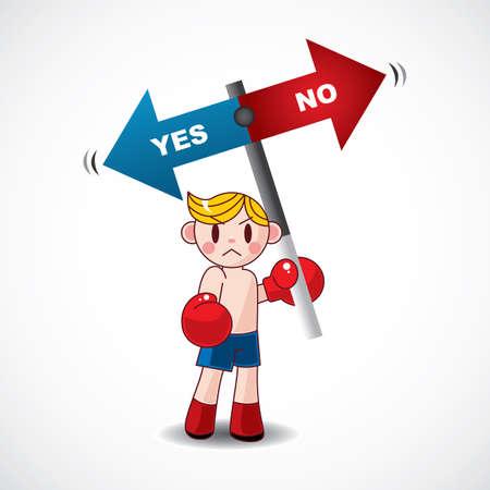 boxer hold board Stock Vector - 11383163